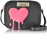 Love Moschino Melting Love Pink & Black Eco Leather Crossbody Bag