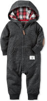 Carter's Hooded Elbow-Patch Coverall, Baby Boys (0-24 months)