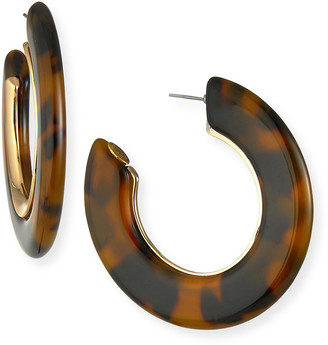 Kenneth Jay Lane Tortoise Hoop Earrings
