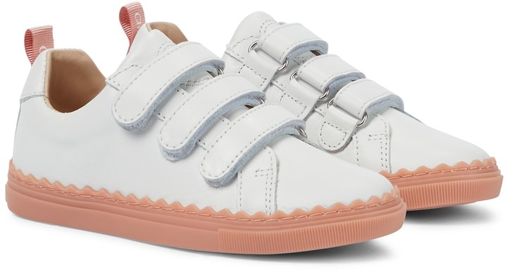 Chloé Kids Leather sneakers
