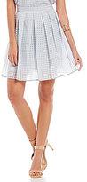 Gianni Bini Melda Basket Weave Pleated Skirt