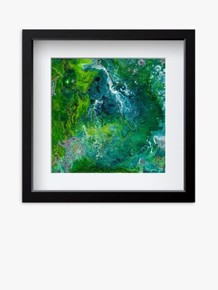 YARDART - Helen Lynch 'Dreams' Outdoor Framed Print, 67 x 67cm, Turquoise
