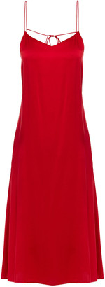 Reformation Luisa Open-back Silk-satin Midi Dress