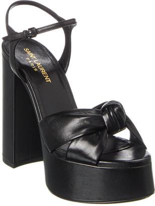 Saint Laurent Bianca 85 Leather Platform Sandal