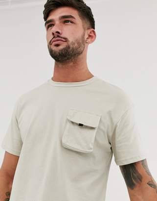 Jack and Jones Core box fit utility t-shirt in gray