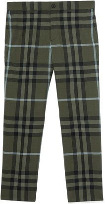 Burberry Check Technical Cropped Trousers