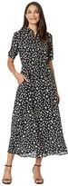BB Dakota Floral Education Ditsy Floral Printed CDC Midi Dress (Black) Women's Clothing