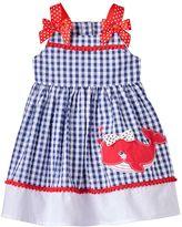 Nannette Baby Girl Whale Seersucker Dress
