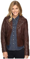 Stetson Crinkled Leather Jacket w/ Nailheads