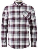 Brave Soul Men's Persuader Long Sleeve Check Shirt - Wine