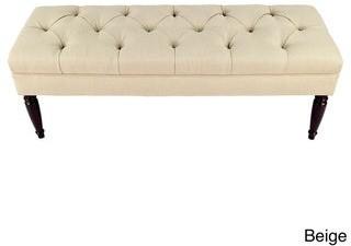 Mjl Furniture Designs MJL Furniture Claudia Diamond Tuft Upholstered Long Bench