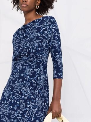 Lauren Ralph Lauren Paisley-Print Boat Neck Dress