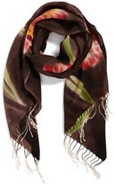 La Fiorentina Women's Floral Wool Scarf