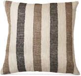 "Hallmart Collectibles Last Act! Hallmart Collectibles Neutral Stripe Chenille 18"" Square Decorative Pillow"