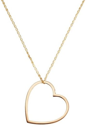 Lana 14K Yellow Gold Large Floating Heart Necklace