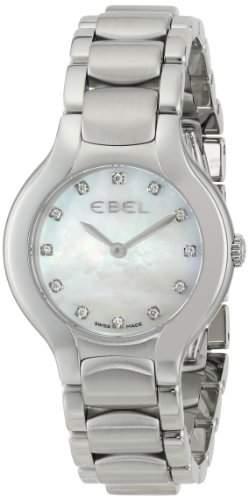 "Ebel Women's 1216038""Beluga"" Stainless Steel Watch with Diamond Markers"