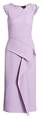 Roland Mouret Women's Stellar Draped Wool Crepe Sheath Dress