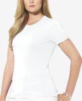 Lauren Ralph Lauren Plus Size Short-Sleeve Crew-Neck Top
