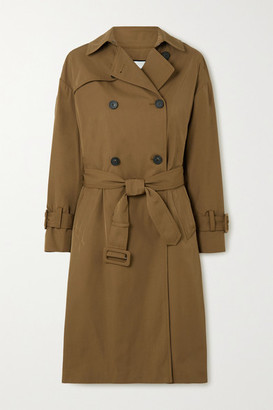 Vince Belted Gabardine Trench Coat - Army green