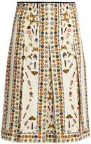 Alexander McQueen Obsession-print pleated skirt