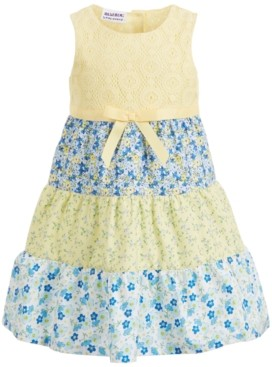 Blueberi Boulevard Toddler Girls Layered Floral Dress