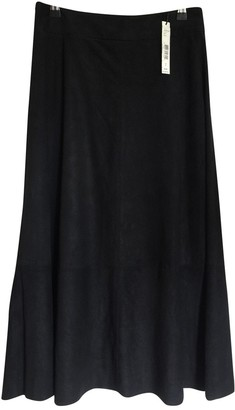 Alice + Olivia Black Suede Skirt for Women