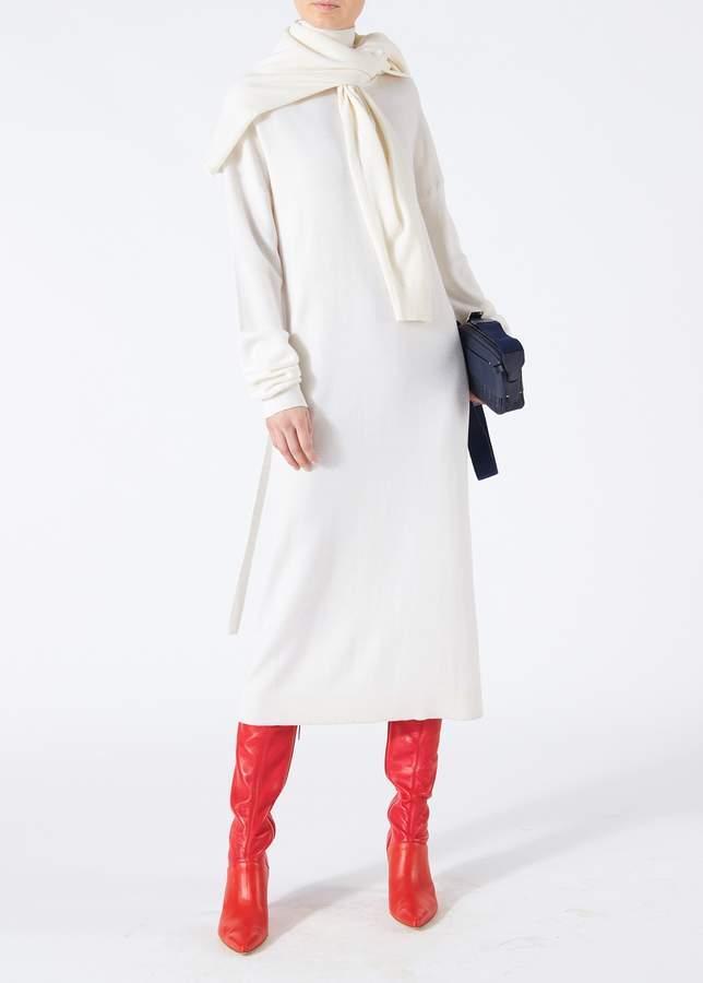 Tibi Merino Wool Tie Back Long Dress