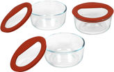 Pyrex Set of 3 No-Leak Glass Food Storage Dishes