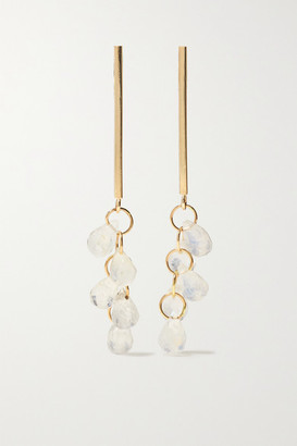 Melissa Joy Manning 14-karat Gold Moonstone Earrings - one size