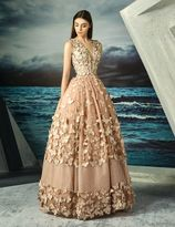 MNM Couture - Butterfly Appliqued Ballgown G0829