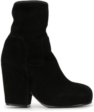 Random Identities Sock-Effect Block Heel Boots