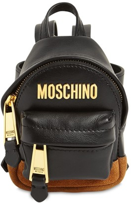 Moschino Micro Logo Leather Backpack