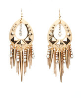 Charlotte Russe Teardrop Spike Dangle Earrings