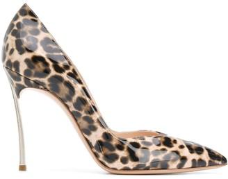 Casadei Maxi Blade leopard pumps