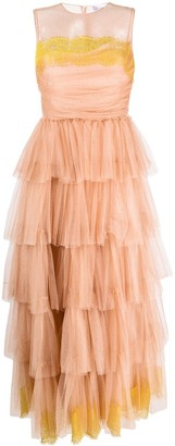 RED Valentino Point D'esprit Tiered Sleeveless Dress