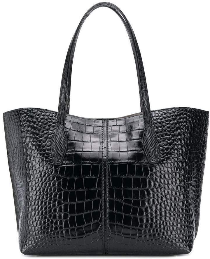 Tod's crocodile effect tote bag