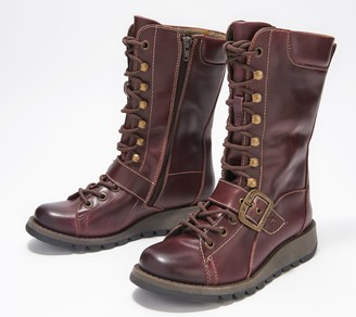 Fly London Leather Lace-up Mid Boots - Selu