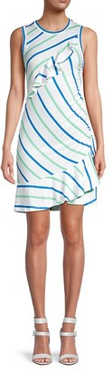 Parker Striped Cotton-Blend Dress