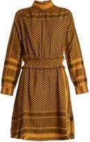 CECILIE COPENHAGEN Mieka high-neck scarf-jacquard cotton dress