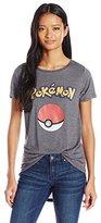 Freeze Women's Pokemon Pokeball High Low Drapey Graphic Tee