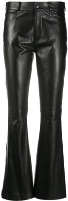 Simonetta Ravizza Zea bootcut leather trousers