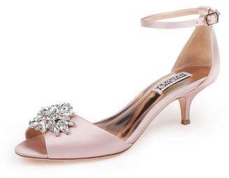 Badgley Mischka Sainte Embellished Kitten-Heel Sandals