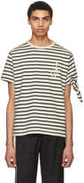 J.W.Anderson Black and White Breton Stripe Tie Knot T-Shirt