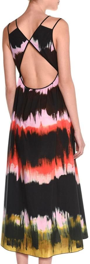 Tomas Maier Sleeveless Paint-Striped Sundress, Multi Colors