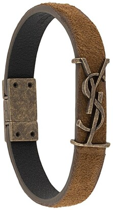 Saint Laurent Monogram Suede Bracelet