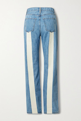 STILL HERE Childhood Stones And Rocks Printed High-rise Straight-leg Jeans - Blue