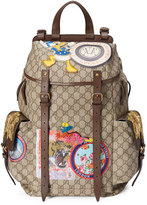 Gucci Soft GG Supreme Backpack with Patches, Beige