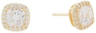 Michael Kors Sterling Silver Cushion-Cut Stud Earrings (14K Gold Plated) Earring