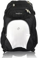 Obersee Bern Diaper Bag Backpack with Detachable Cooler in White