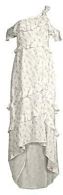 Rachel Zoe Women's Jillian Ruffle Floral High-Low Dress